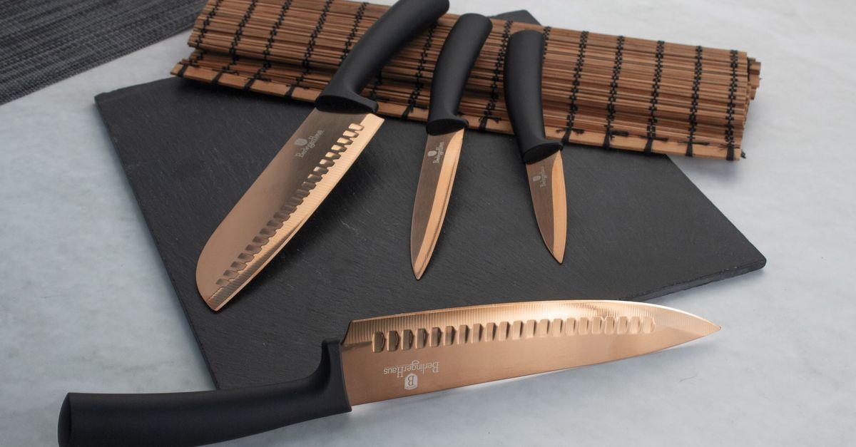 Lot de 4 couteaux Berlinger Haus (noir & or rose)