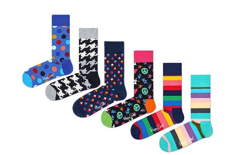 6 paar Happy Socks (maat 36 - 40)