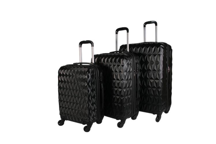 Korting 3 delige ABS kofferset (zwart)