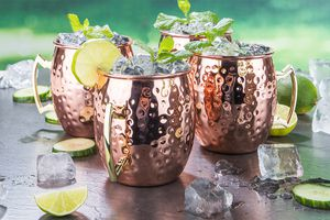 4 Moscow Mule drinkbekers (500 ml)