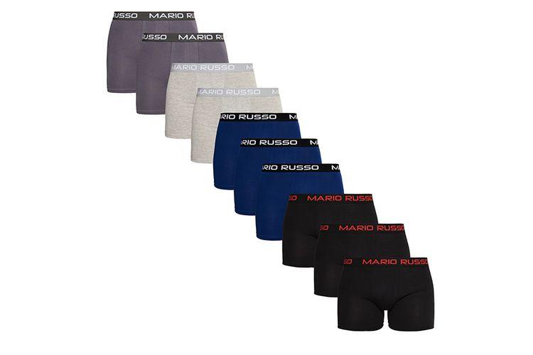 SlaJeSlag 10 boxers van Mario Russo in 4 kleuren (maat: M of L)
