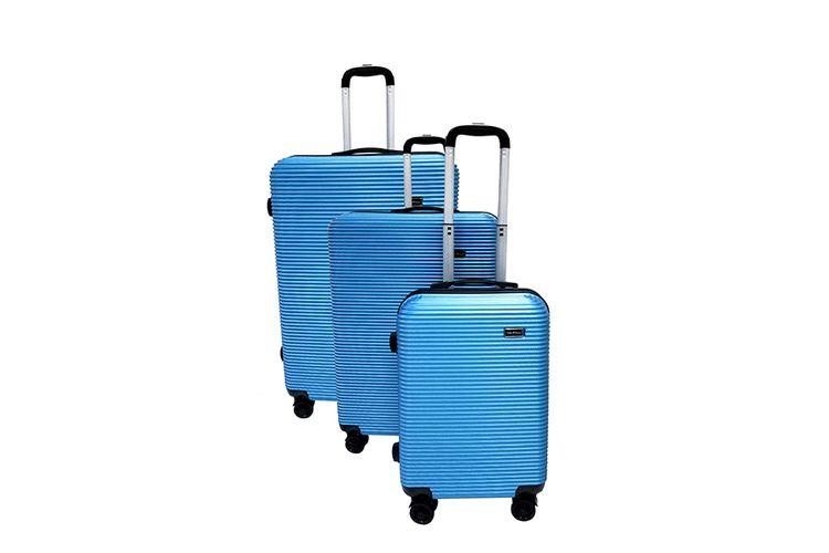 3-delige ABS kofferset (blauw)