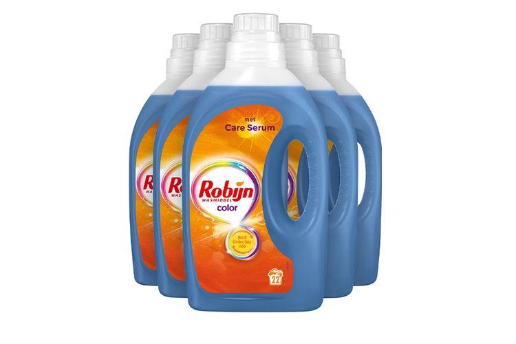 SlaJeSlag 5 flessen wasmiddel van Robijn