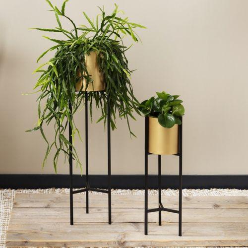 2 metalen plantenbakken van Lifa Living