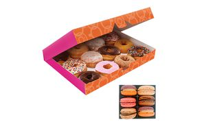 12 donuts + 6 macarons van Dunkin'