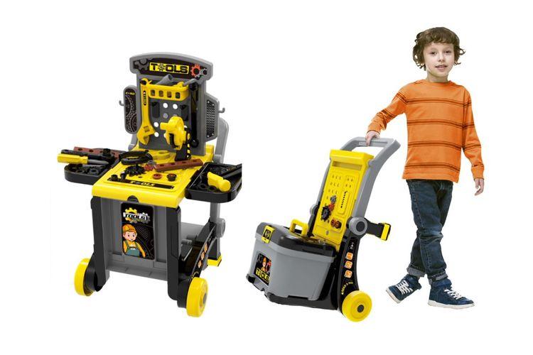 SlaJeSlag 3-in-1 speelgoedwerkbank met gereedschap