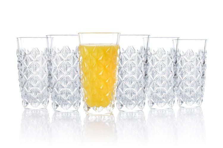 Set van 6 longdrinkglazen van RCR (400 ml)