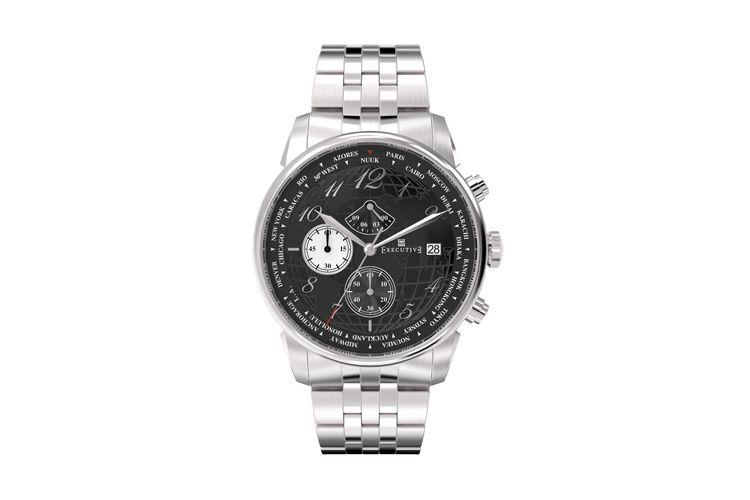 Executive Club Steel horloge voor hem (EX-1001-11)