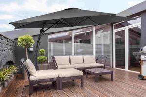 Parasol déporté gris foncé Feel Furniture (Ø 300 cm)