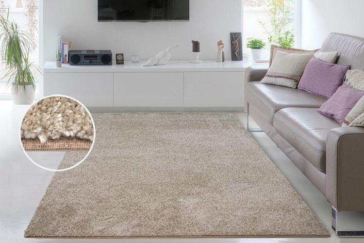 Zacht, beige vloerkleed Tiara (160 x 230 cm)
