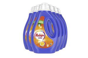 6 bouteilles de lessive Robijn pour le linge de couleur