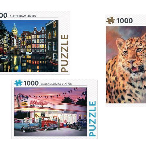 3-delige puzzelset (1.000 stukjes per puzzel)