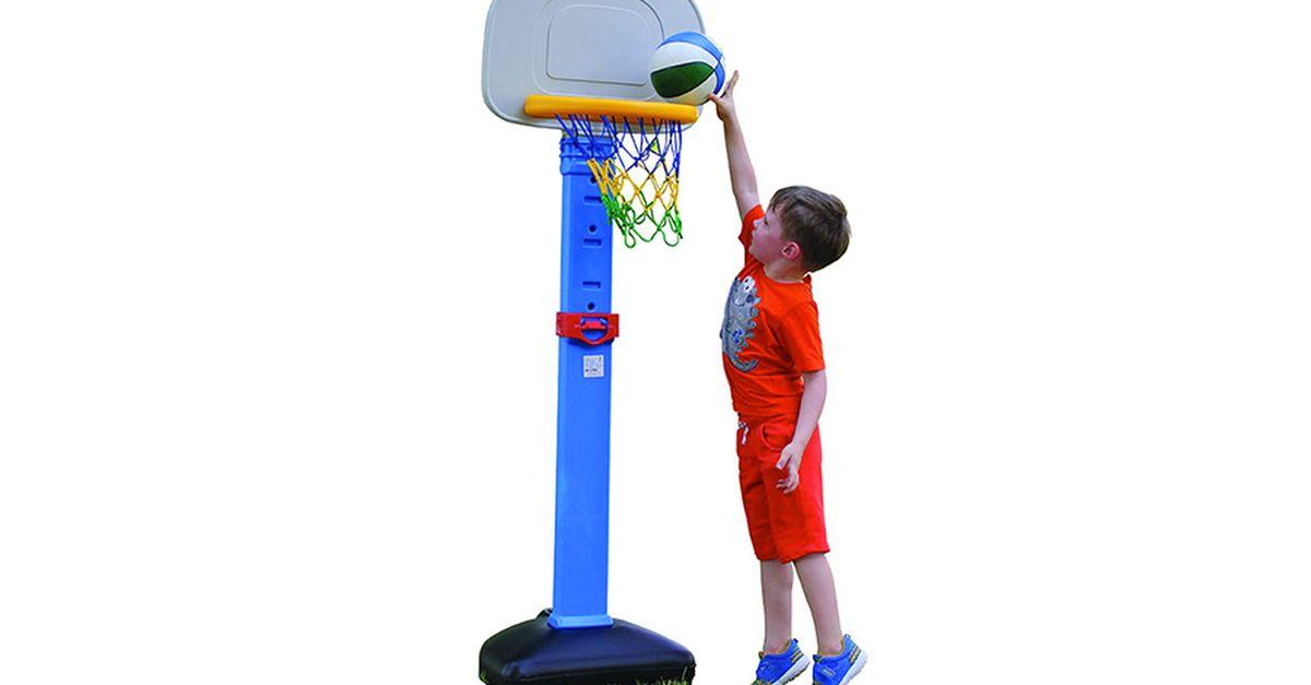 Jeu de basket-ball à hauteur réglable (ballon inclus)