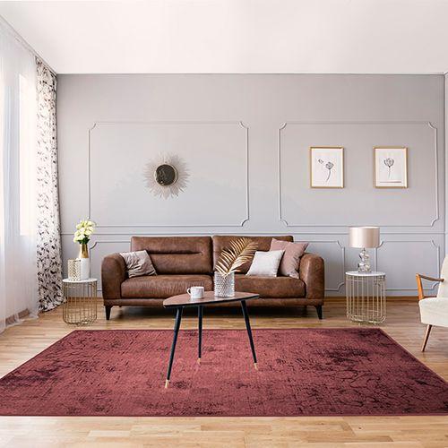 Donkerrood vloerkleed (160 x 230 cm)