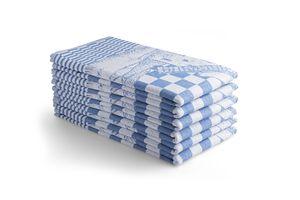 6 keuken handdoeken met windmolen print (65 x 65 cm)