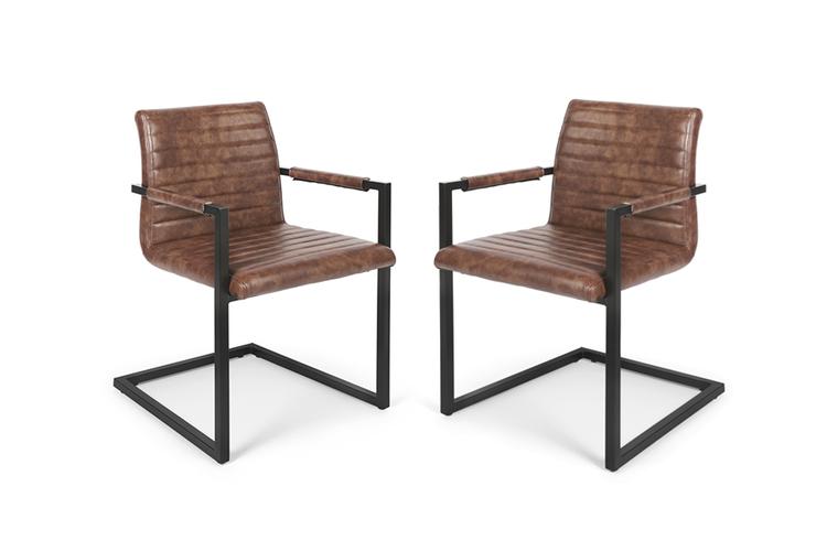 Cognac Kleur Stoel : Lifa living swinger cognac 2 swinger stoelen cognac