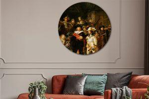 Oude meester op een muurcirkel van kunststof (50x50 cm)