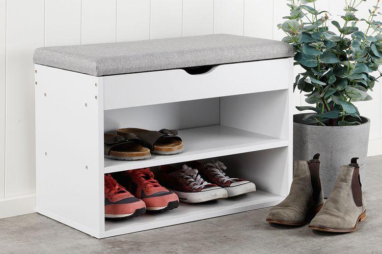 Schoenenkast met zitvlak (60 x 30 x 45 cm)