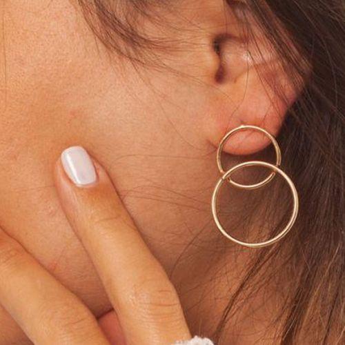 Korting Goudkleurige oorbellen