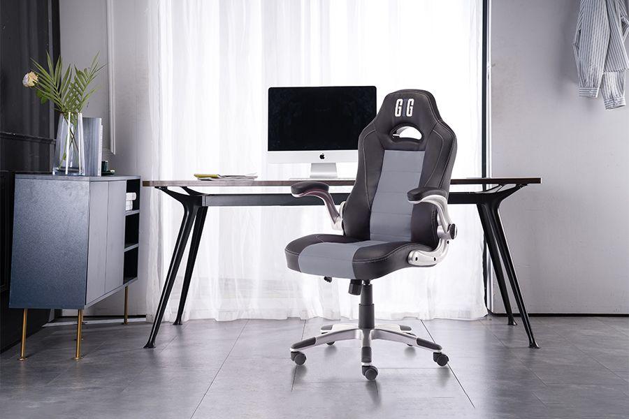 Luxe zwarte gamingstoel