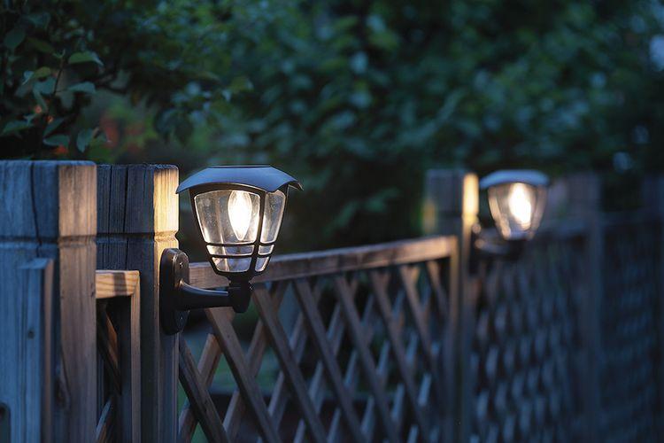 3 solar tuinwandlampen van Hyundai (21 cm hoog)