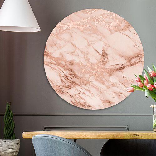 Marmer op wandcirkel (60 x 60 cm)