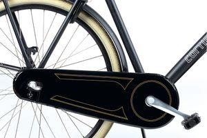 Zwarte kettingkast voor omafietsen (67 x 22 cm)