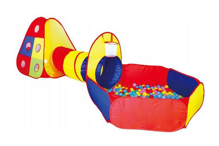 Speeltent met balspelletjes en ballenbak (100 ballen)