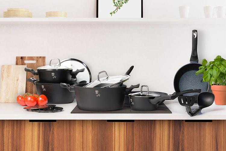 15-delige pannenset van Berlinger Haus (zwart)