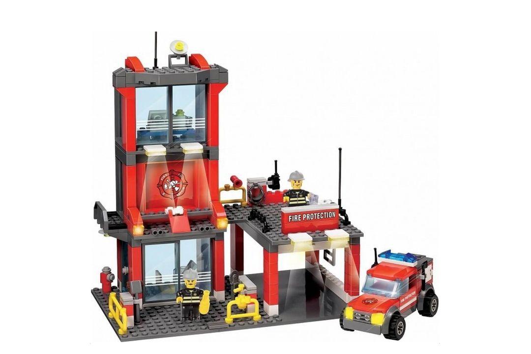 Brandweerkazerne van Blocki-bouwstenen