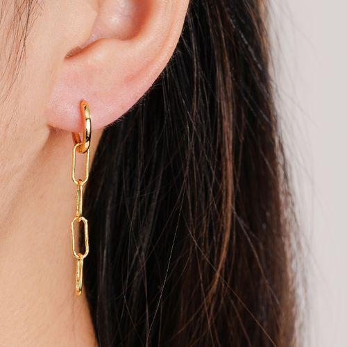 Goudkleurige oorbellen van Ezalya