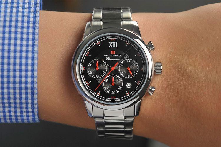 Chronomaster horloge van Carl Heinrich (G0907-SBLS)