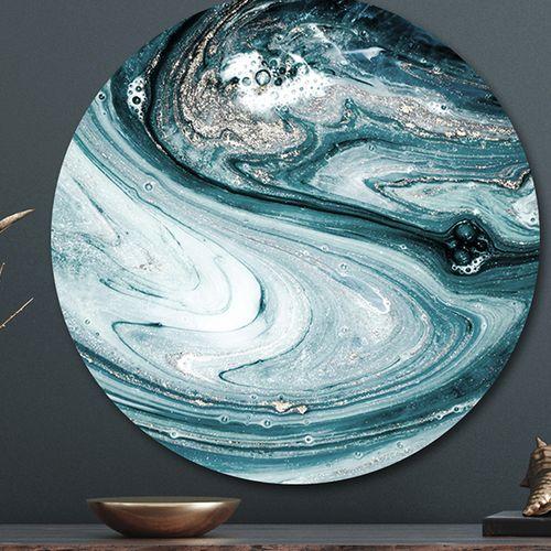 Wandcirkel met natuurlijke print ( 60 cm)