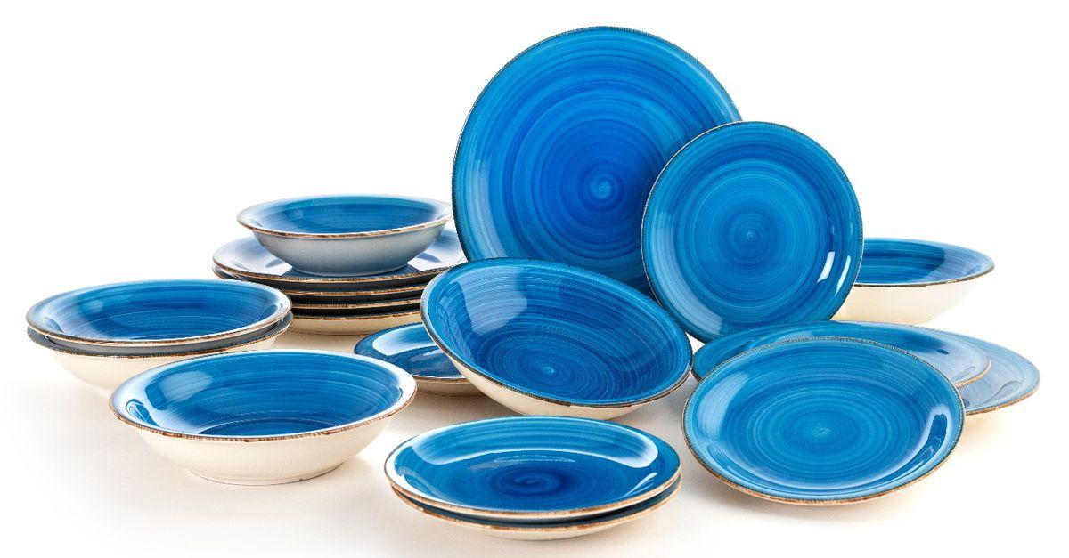 Lot de 18 assiettes Quid (collection : Vita Azul)