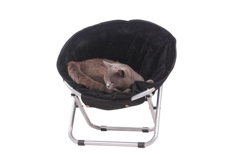 Zwarte relaxstoel voor je kat of hond (50 x 50 x 40 cm)