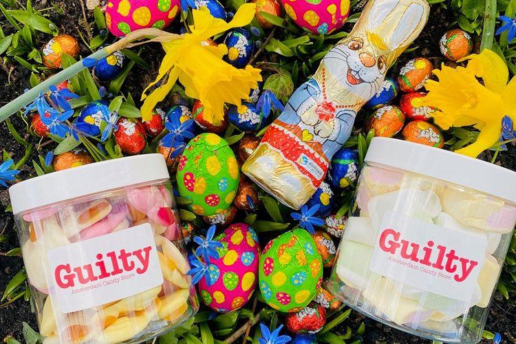 Paaspakket met snoep van Guilty Candy Store