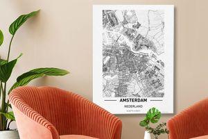 Nederlandse steden op canvas (60 x 80 cm)