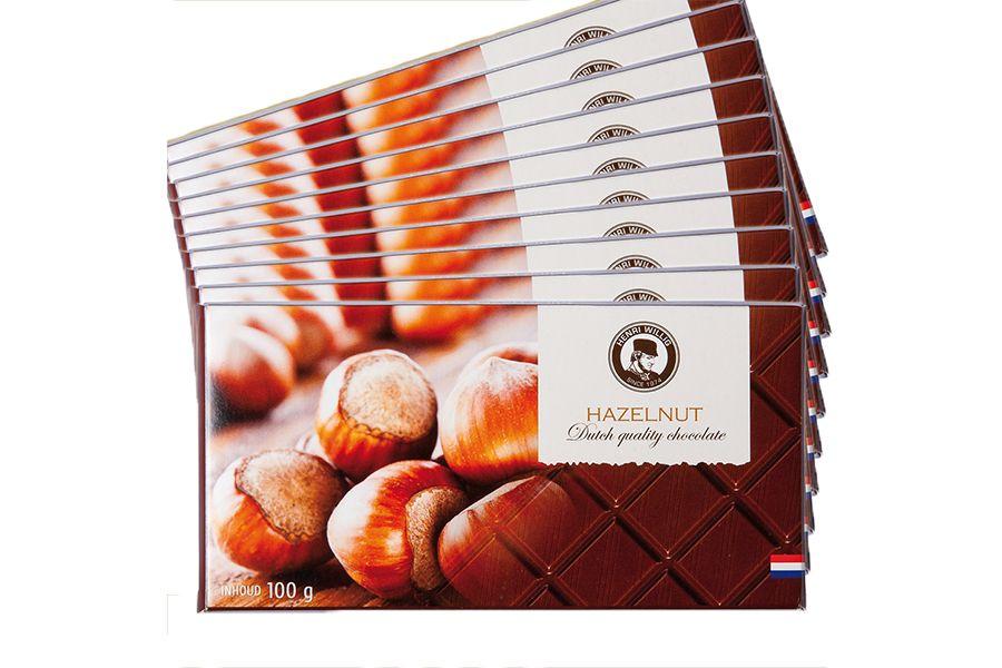 28 chocoladerepen met keuze uit 4 smaken van HenriWillig