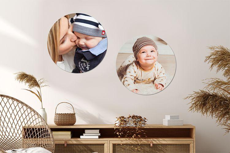 Jouw foto's op een muurcirkel (� 50 x 0,5 cm)